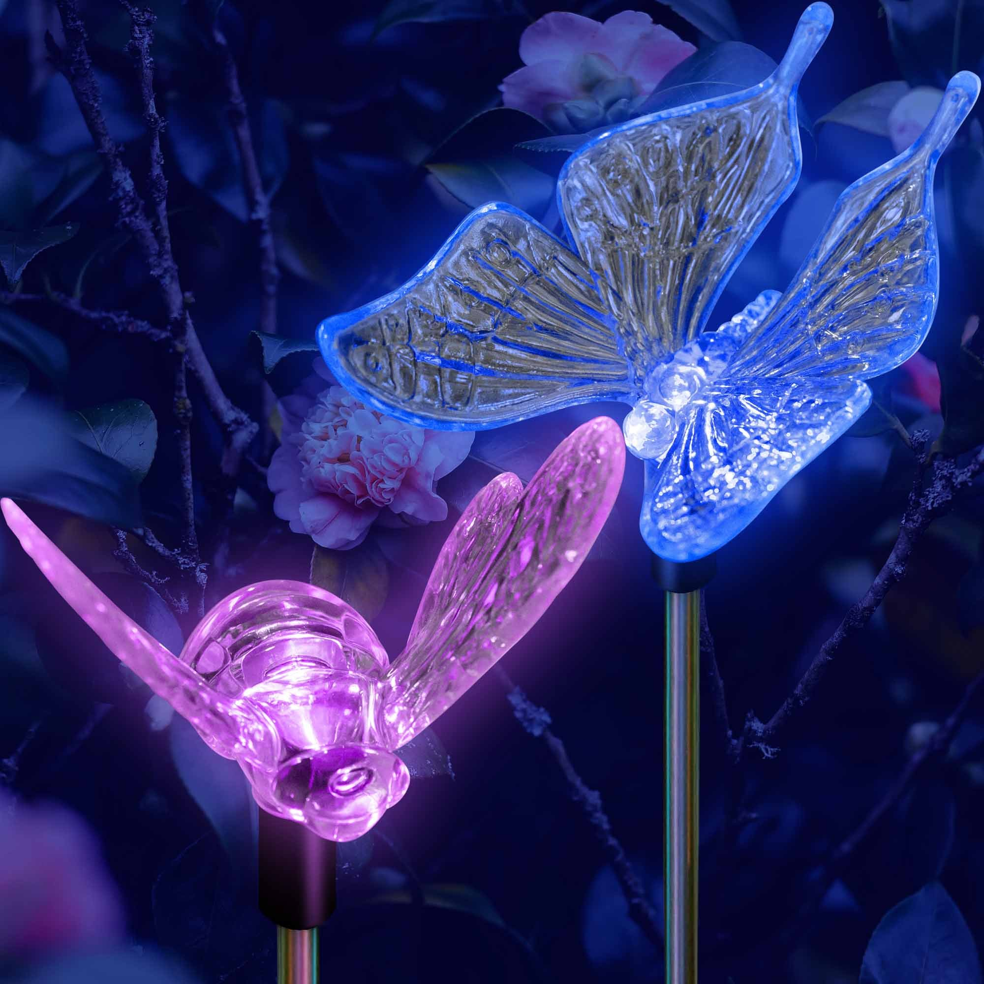 SolarDuke Solar Garden Outdoor Stake Lights Butterfly and Bumble Bee Garden Lighting Path Decoration Color Changing Patio Lawn Backyard Decor by SolarDuke (Image #3)