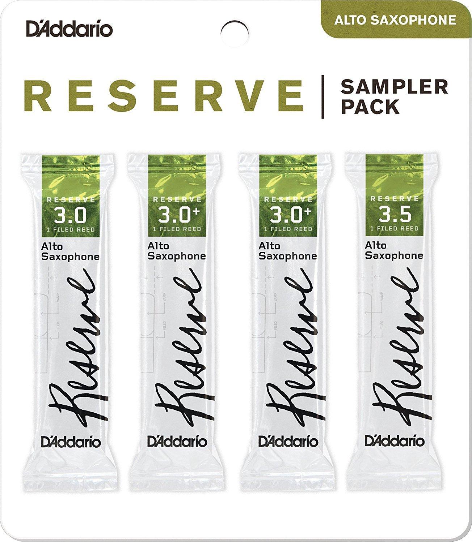 D'Addario Woodwinds DRS-J30 Reserve Alto Saxophone Reed Sampler Pack, 3.0/3.0+/3.5