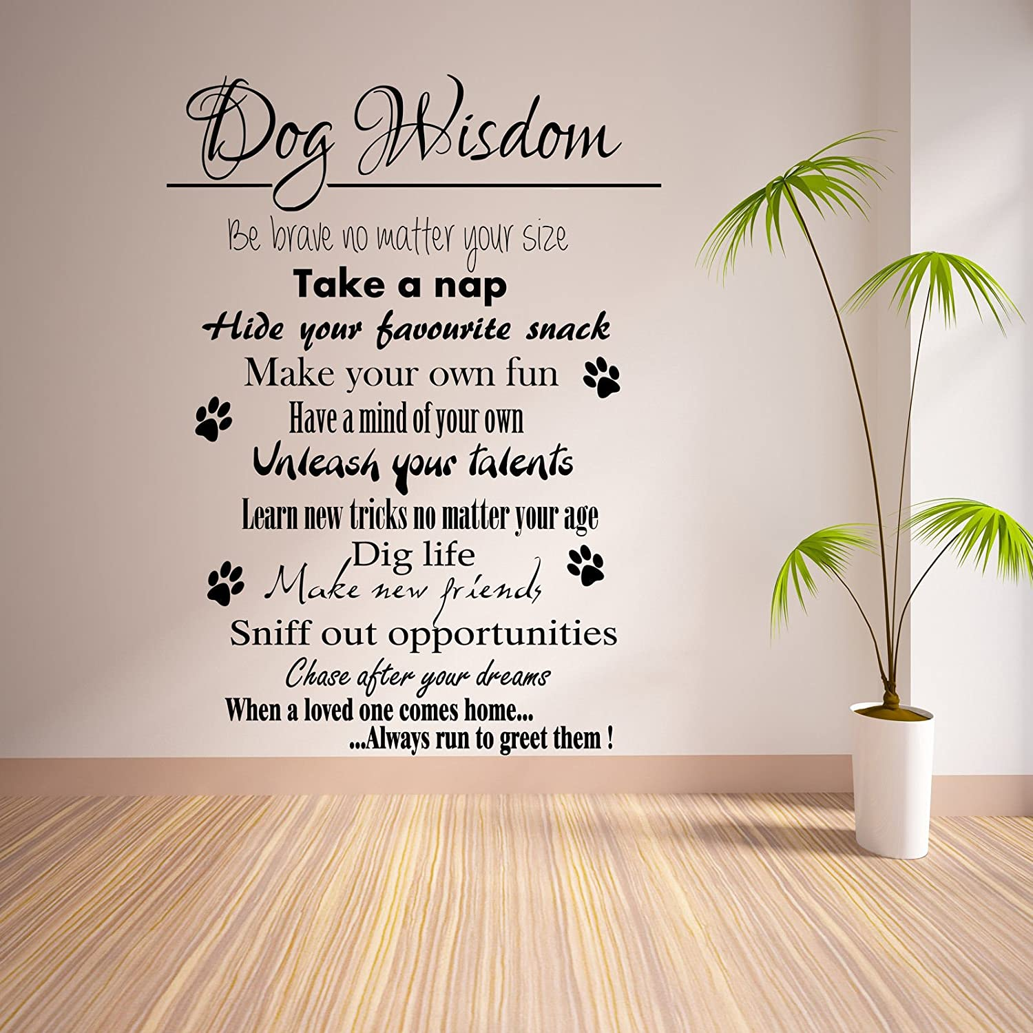 Amazon.com: HUANYI Dog Wisdom ART Wall Quote STICKER TRANSFER Vinyl DECAL:  Home U0026 Kitchen Part 60