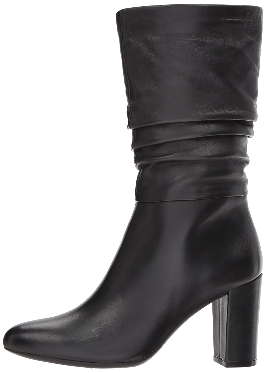Anne Klein Women's Nysha Leather Fashion Boot B07693VV1C 11 B(M) US|Black Leather