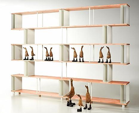 Libreria Componibile SKAFFAWOOD in Legno Massiccio RANDOM Modulare ...