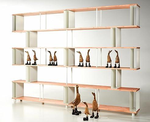 Bücherregal design wand  Bücherregal SKAFFAWOOD RANDOM MASSIVHOLZ kombinierbare Regal Wand ...