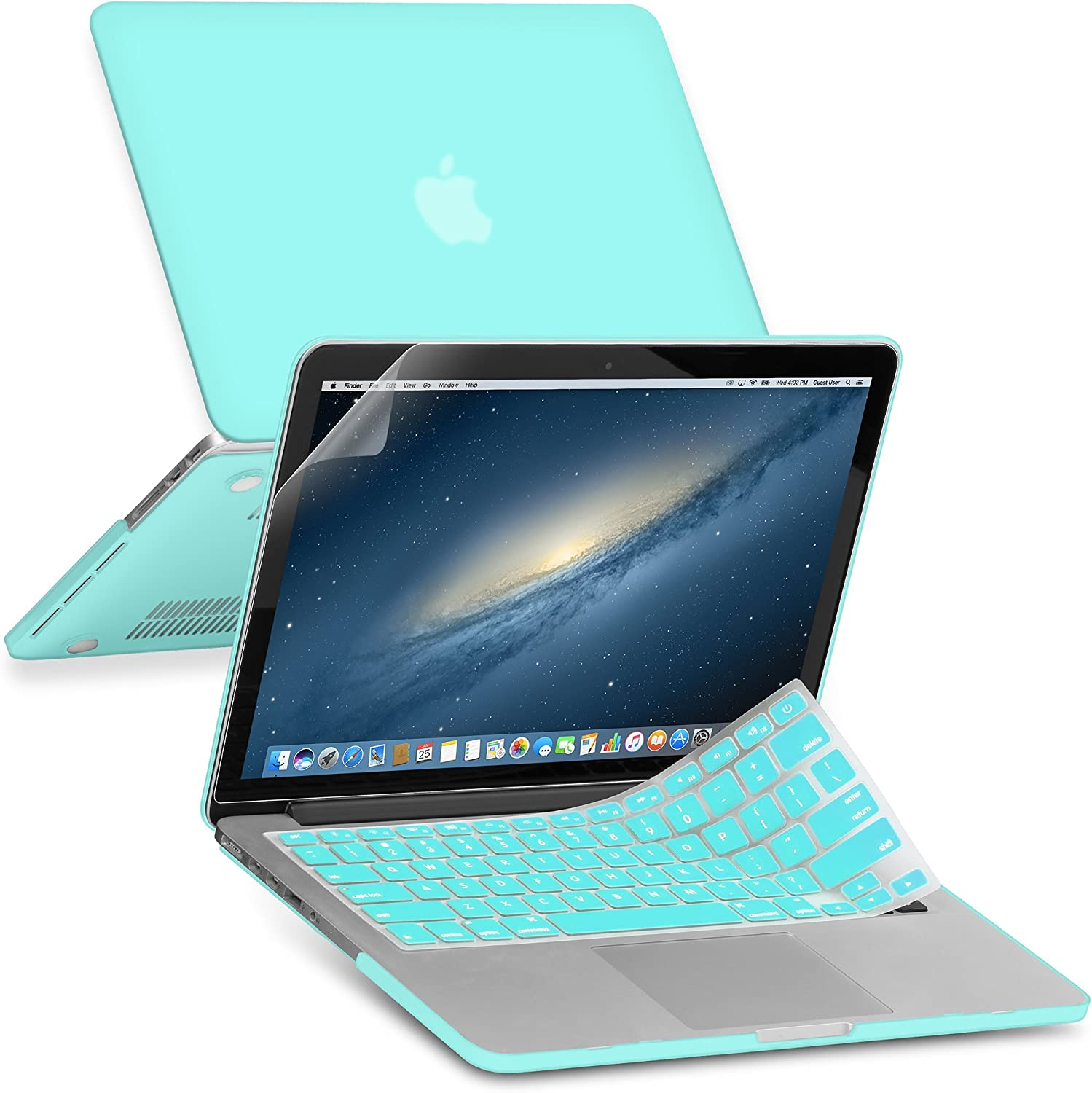 GMYLE Rubber Coated Frosted Hard Shell Case Cover Print for MacBook Pro 13 inch with Retina Display (Model: A1425 & A1502) - (Not fit for MacBook Pro 13) (Robin Egg Blue)