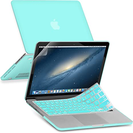 """Key Cover LCD Screen 3 in 1 Rubberized TIFANY BLUE Case for Macbook PRO 15/"""""""