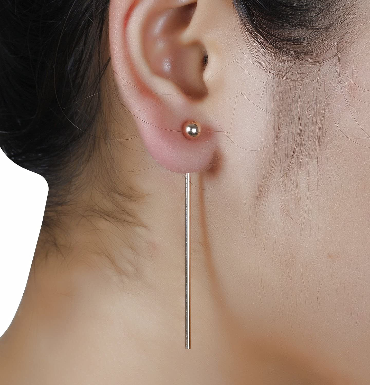 Aaishwarya Rose Gold Drop Ear Jacket Earrings & Crystal