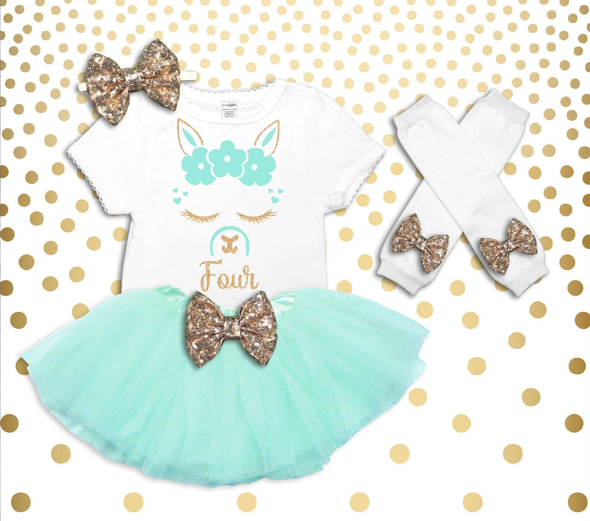 Llama 4th Birthday Outfit Girl Llama Birthday Shirt Llama Birthday Outfit Llama 4th Birthday Tutu 4th Birthday Girl Outfit Llama Shirt