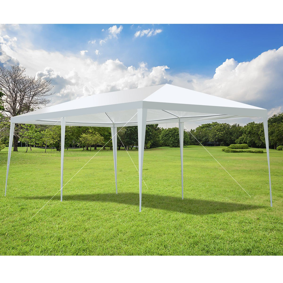 TANGKULA 10'X20' Portable Canopy Tent Wedding Party Tent Outdoor All-Purpose Weather Resistance Garden Tent Instant Shelter, White