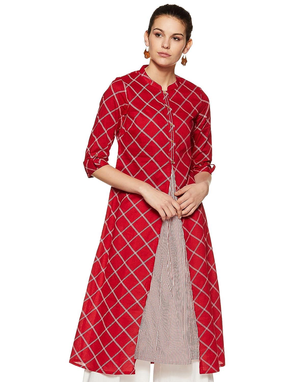 Get 45% off on Rangmanch by Pantaloon Kurtis Women's Cotton a-line Kurta
