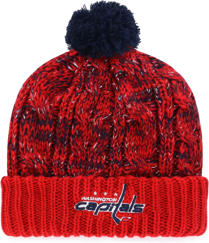 OTS NHL Womens Brilyn Cuff Knit Cap with Pom
