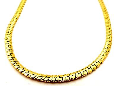 Goldkette damen  Hip Hop Gangster Goldkette Panzerkette für Herren und Damen 5mm ...