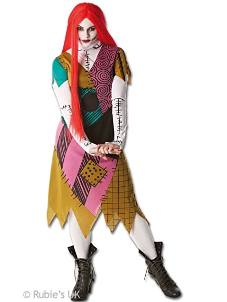 Adult Sally Fancy Dress Nightmare Before Christmas Costume Halloween  Outfit  Amazon.it  Giochi e giocattoli 75f11ee069e