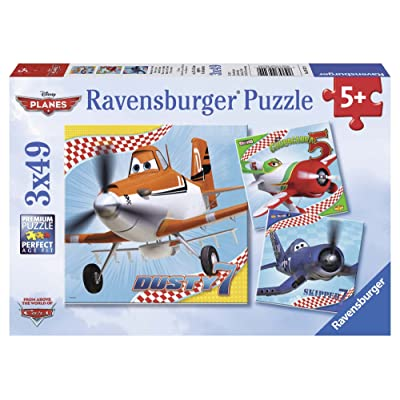 Ravensburger Disney Planes: Dusty and Friends 3 x 49-Piece Jigsaw Puzzle for Kids – Every Piece is Unique, Pieces Fit Together Perfectly: Toys & Games