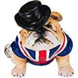Chapman Sculptures British Bulldog with Flag Hand Painted Statue 3""