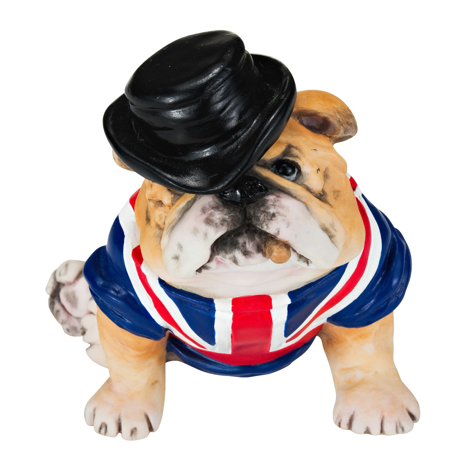 """Chapman Sculptures British Bulldog with Flag Hand Painted Statue 3"""""""