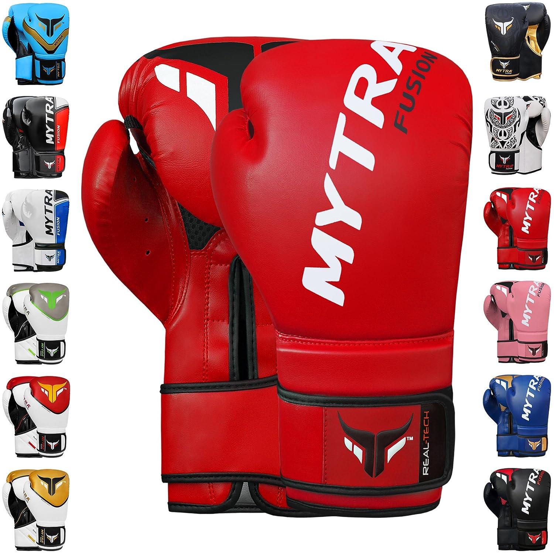 Mytra Fusion Boxing Gloves 10oz 12oz 14oz 16oz Boxing Gloves for Training Punching Sparring Punching Bag Boxing Bag Gloves Punch Bag Mitts Farabi Sports