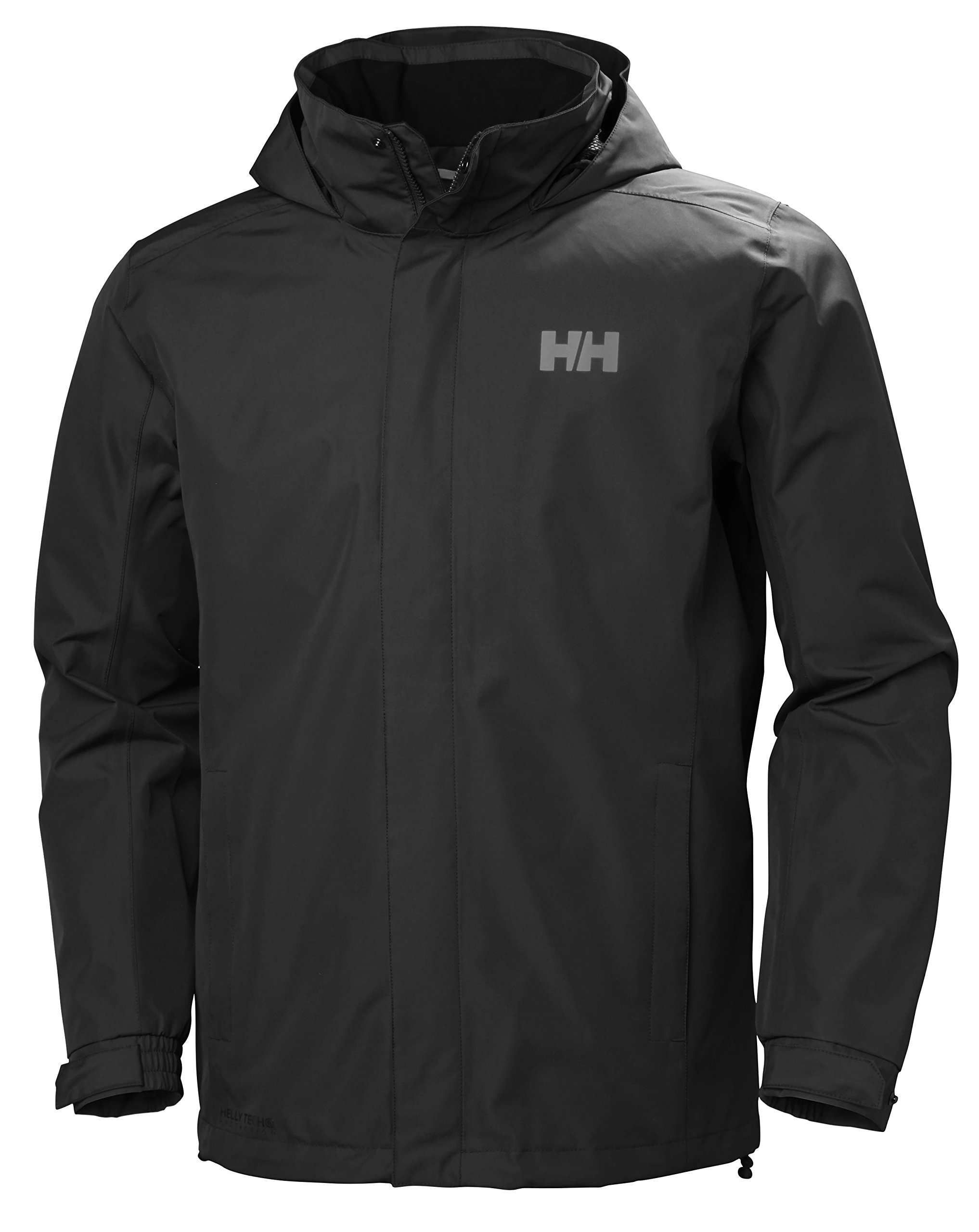 Helly Hansen Men's Dubliner Jacket Waterproof, Windproof, Breathable Shell Rain Coat with Packable Hood, 990 Black, Large by Helly Hansen