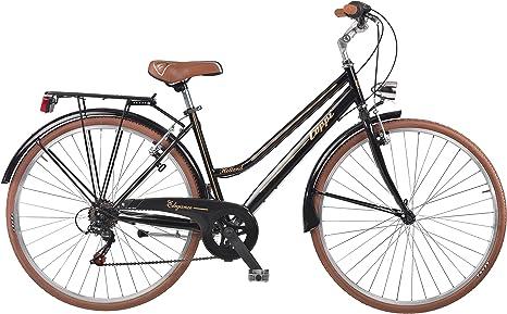 Coppi Bicicleta Retro Acero Retro 28 Negro: Amazon.es: Deportes y ...