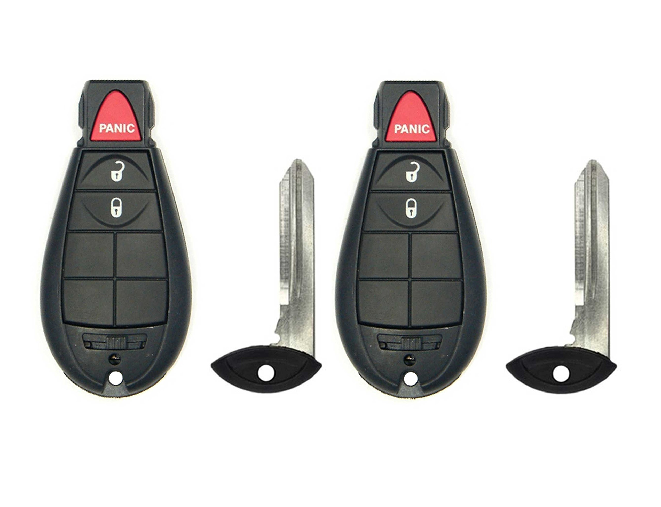 CanadaAutomotiveSupply © - 2 New Replacement Uncut Keyless Remote Fobik Car Key Fobs for select Dodge vehicles M3N5WY783X IYZ-C01C