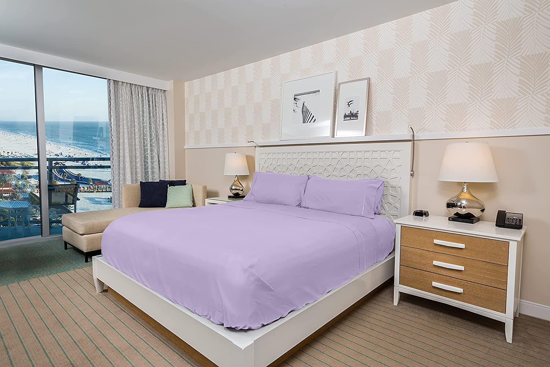 LuxClub 6 PC Lavender Queen Purple Bed Sheet