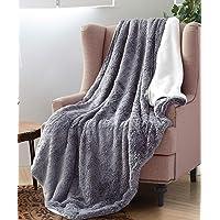Regal Comfort Faux Fur Luxury Plush Sherpa Mink Plush Blanket, Animal Print