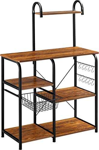 Pan Ironstone Vintage Kitchen Baker's Rack Utility Storage Shelf