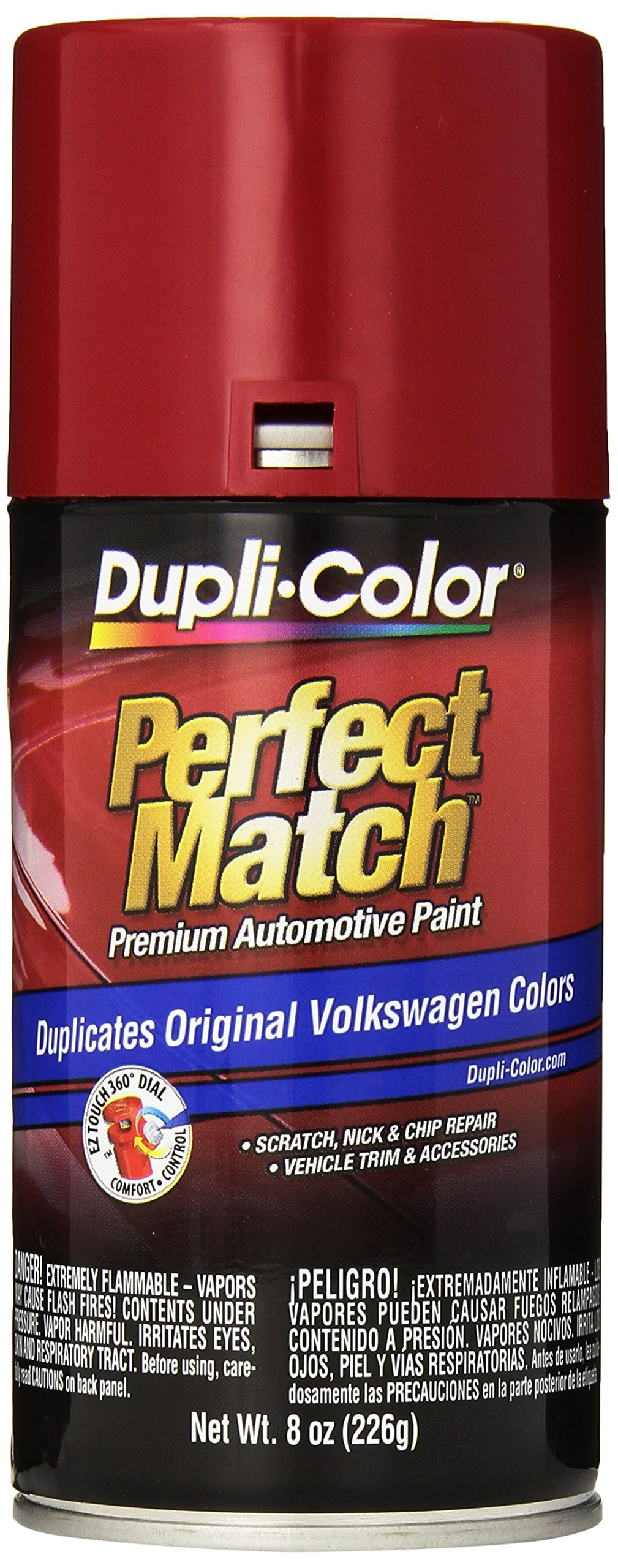Dupli-Color EBVW20377 Tornado Red Volkswagen Perfect Match Automotive Paint - 8 oz. Aerosol