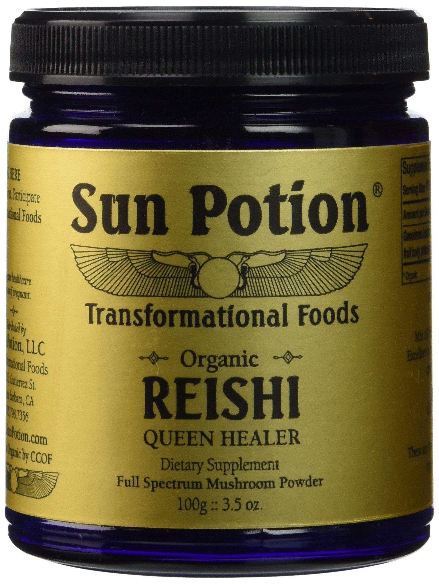 Sun Potion Organic Reishi Mushroom Powder - 100 Gram Jar