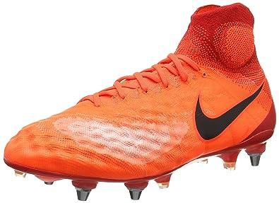 758fb5b47b21 NIKE Men's Magista Obra II SG-Pro Football Boots, Orange (Total Crimson/