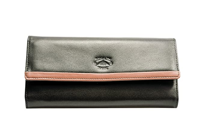 fd70f713614a Stealth Mode Women's Soft Napa Leather RFID Blocking Leather Wallet ...