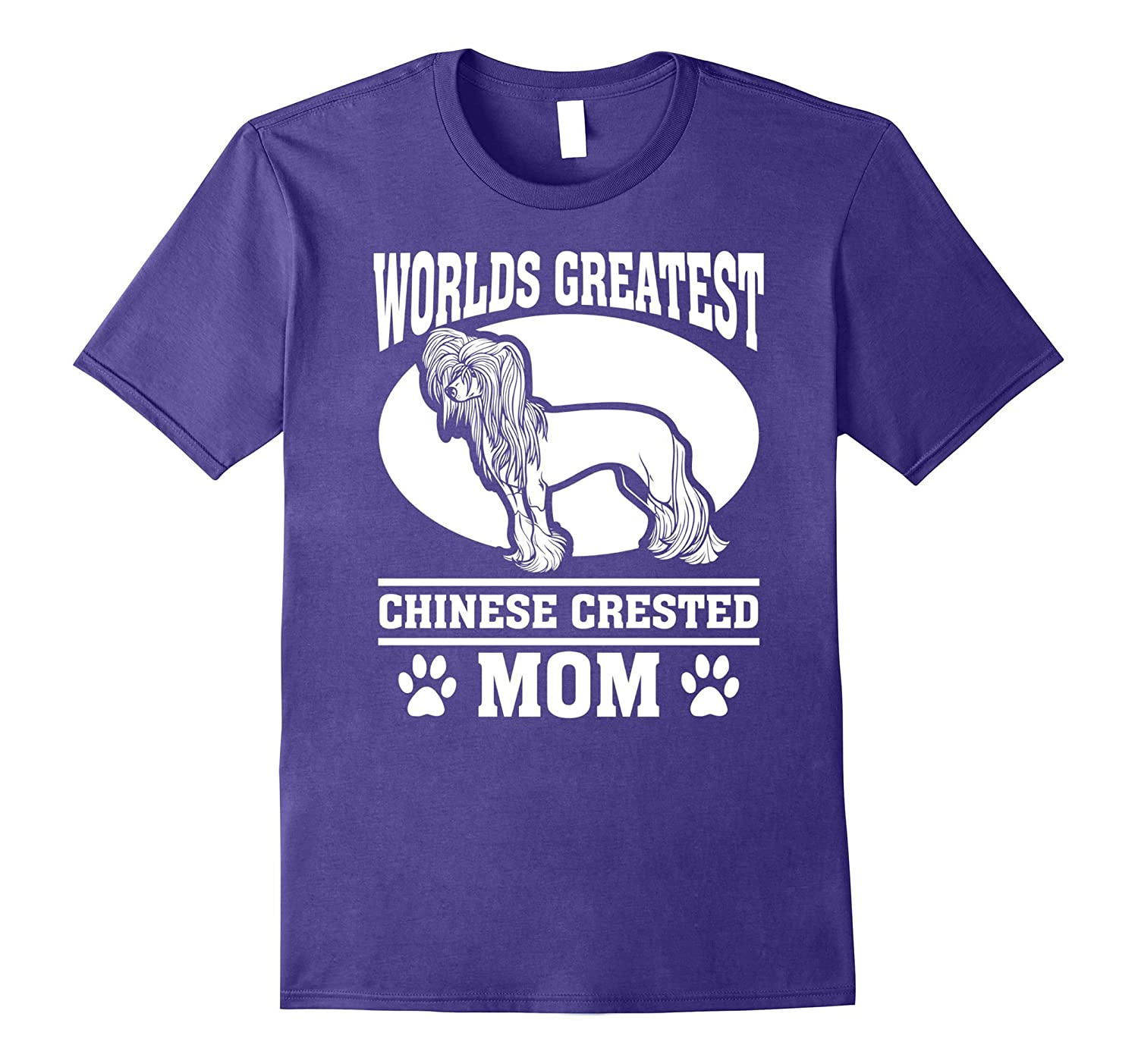 Worlds Greatest Chinese Crested Mom Dog T-shirt-TH