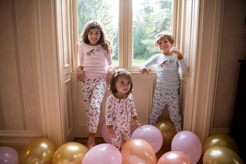 Leveret Kids Pajamas Baby Boys Girls Footed Pajamas Sleeper 100/% Cotton Size 6-12 Months-5 Toddler