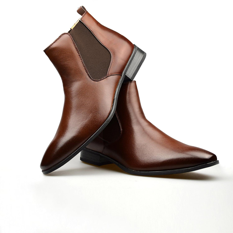 ClassyDude - Botas Chelsea hombre , color marrón, talla 42.5