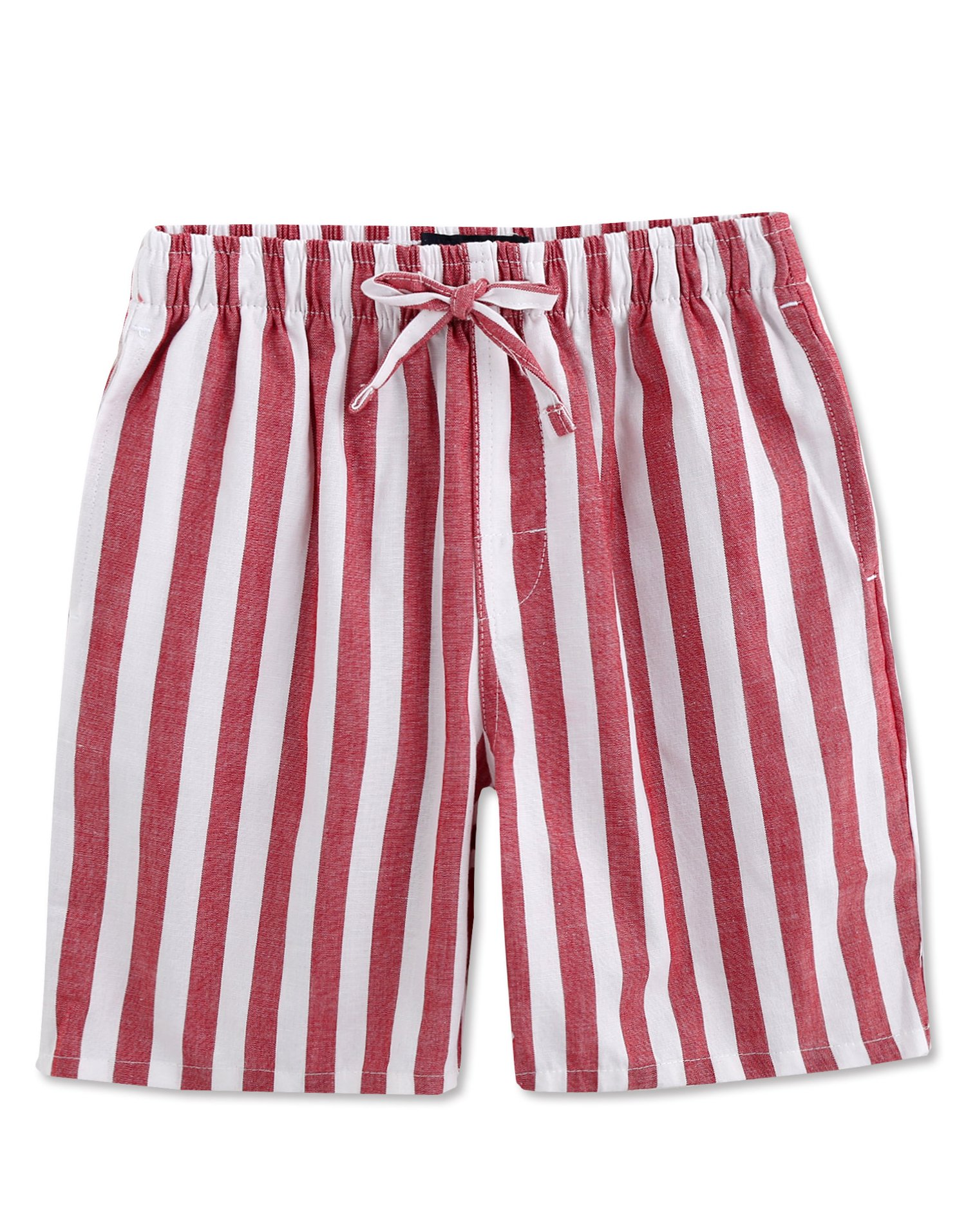 TINFL Boys Plaid Check Soft 100% Cotton Lounge Shorts BSP-09-Red-YXL