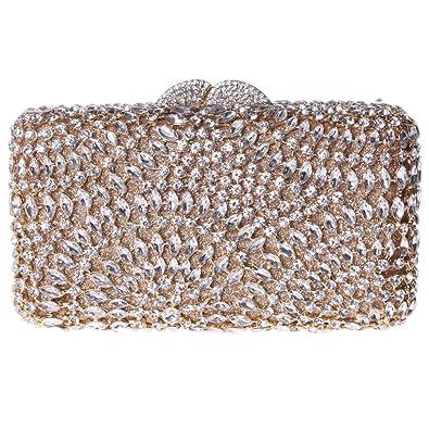 ea2e4e493 Amazon.com: Fawziya Rhinestone Clutch Purse Bling Crystal Evening Clutch  Bags-Gold: Shoes
