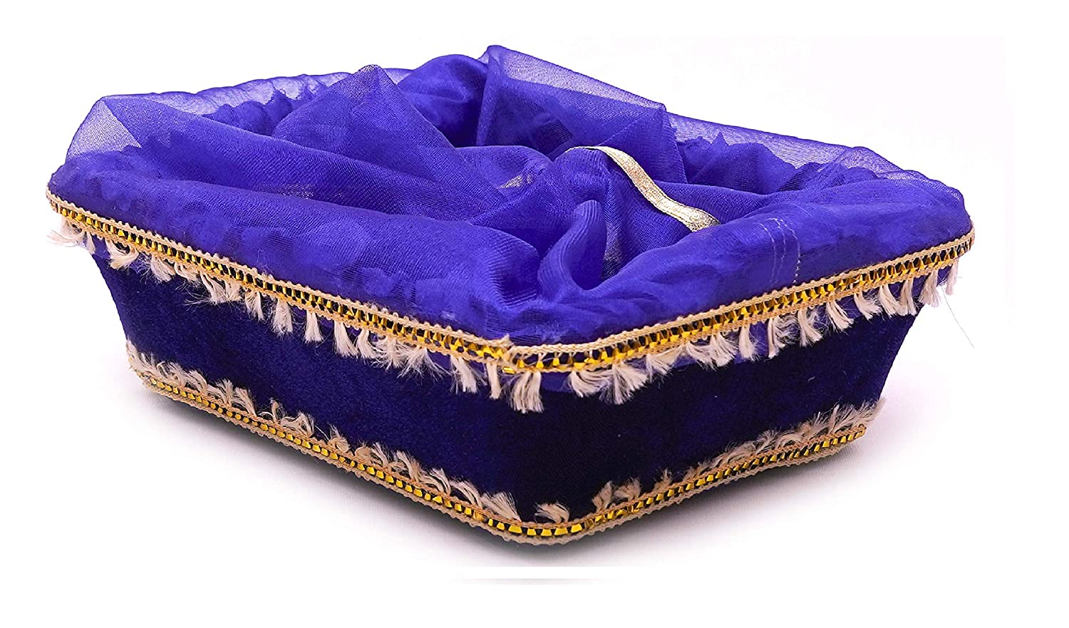Buy Grownex Royal Blue Fancy Baskets For Baby Shower Shagun Gift Hamper Hotel Room Hampers Size 11 X 9 X 3 Inches Set Of 2 Baskets Online At Low Prices In India Amazon In