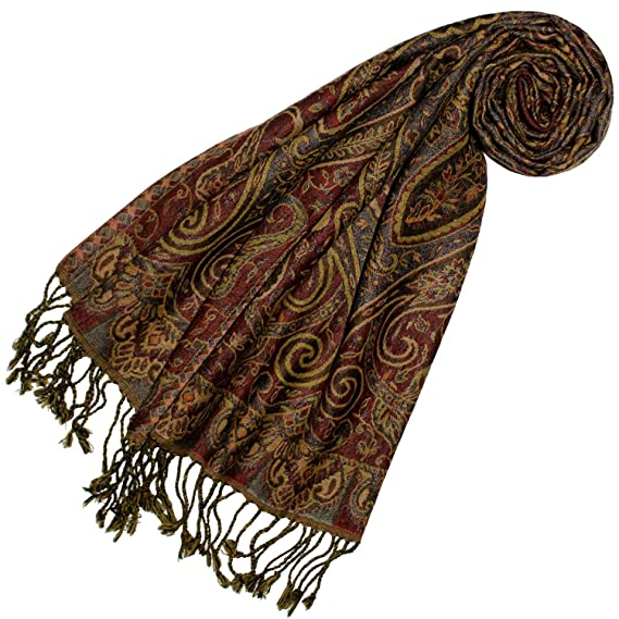 2cc09fe86e630 Lorenzo Cana Echarpe de 100% laine pour la femme – foulard paisley fleuri -  35