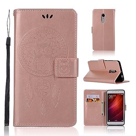 BCIT Xiaomi Redmi Note 4 Funda - [Patrón de búho] Carcasa Libro de Cuero Con Tapa y Cartera, Carcasa PU Leather Con TPU Silicona Case Interna Suave ...