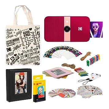 KODAK Smile Impresora Digital instantánea (Rojo) Kit de ...