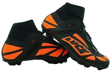 sensación cómoda último descuento elige mejor LUCK Zapatillas de Ciclismo para Invierno Winter Naranja MTB, con Suela de  Carbono SHD, y Doble Sistema rotativo de precisión.