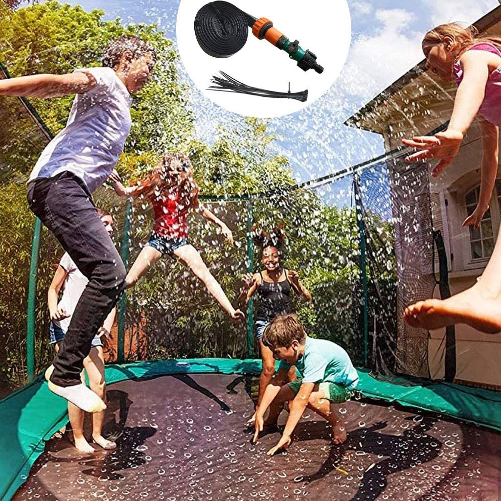 10M ZM1980s Trampolin-Sprinkler F/ür Kinder,Sprinkler F/ür Trampolin,Wasser Sprinkler Kinder,Gartensprinkler Mit Kabelbindern,Trampolin Wasser Sprinkler,Trampolinzubeh/ör Set,Sprinklerpumpen