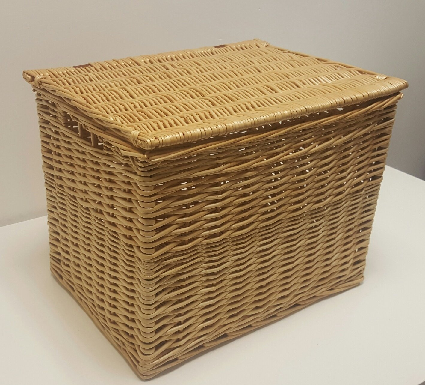 Buff Willow Wicker Deep Storage Chests/Lids / Baskets/Trunk / Hamper (X-Small: L31 cm x W21 cm x H30 cm) Choice Baskets