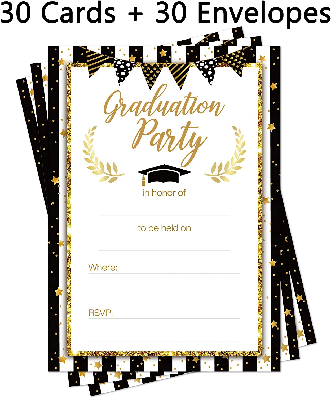 Amazon.com: 2020 Graduation Party Invitations Cards with Envelopes - Grad  Congrats Announcements Supplies 30Ct: Kitchen & Dining