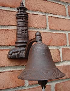 Treasure Gurus Cast Iron Lighthouse Welcome Loud Tone Bel