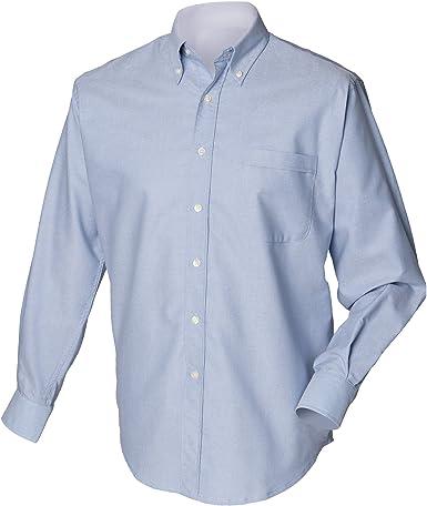 Henbury - Camisa Clásico manga larga Modelo Oxford Work hombre caballero - Trabajo/Fiesta/Boda: Amazon.es: Ropa y accesorios