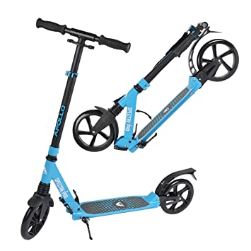Apollo XXL Wheel Scooter 200 mm - Spectre Pro es un City Scooter de Lujo con suspensión Doble, City Roller XXL Plegable y Ajustable en Altura, Grande ...