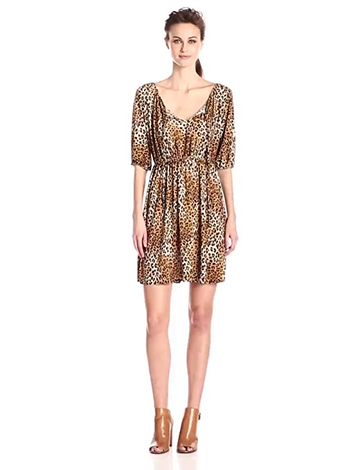 GirlsWalk Womens Leopard Animal Print Ladies Bodycon Mini Dress Top