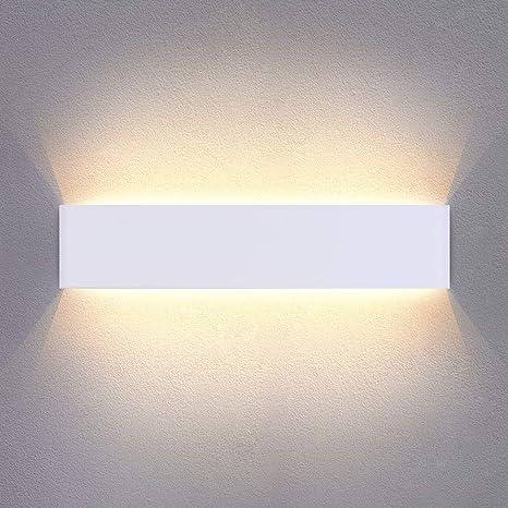 Applique da Parete Interno Moderno Bianco Caldo LED Lampada da Parete 16W  1200LM Perfetto per Camera da Letto Soggiorno Corridoio Bagno Scale 40CM