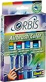 Orbis 30100 Set A - Set de recarga para aerógrafo (incluye 4 cartuchos de tinta), color amarillo, rojo, azul y negro [importado de Alemania]