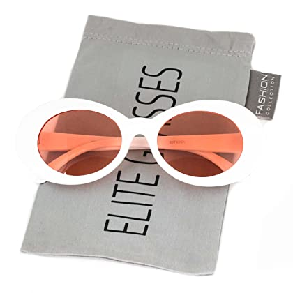 b64af86081dd Clout Goggles Oval Mod Retro Thick Frame Rapper Hypebeast Eyewear Supreme  Glasses Cool Sunglasses