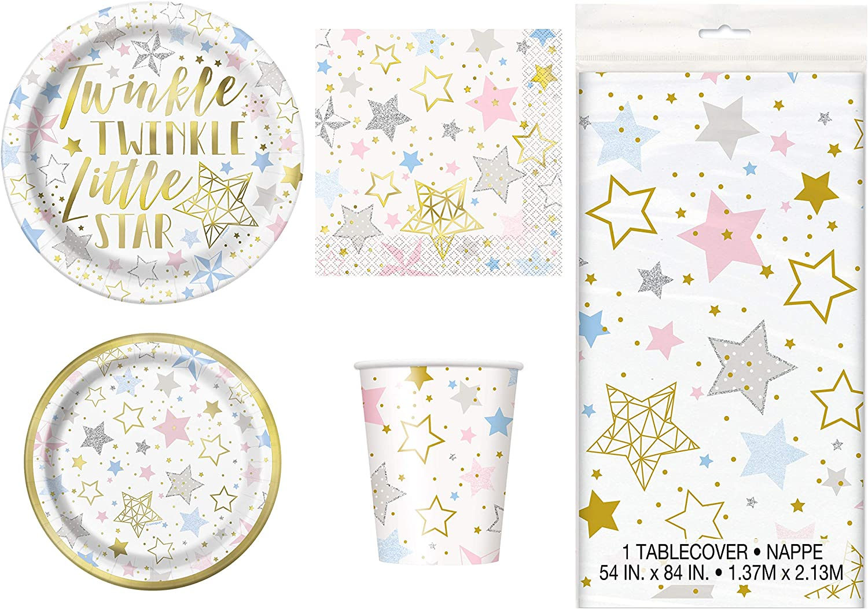 Twinkle Twinkle Little Star Baby Shower Supplies Twinkle Twinkle Little Star Plates 80 Pack Little Star Paper Plates